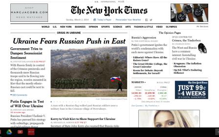 NYT on 3-2-14