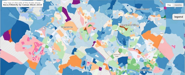 From CUNY Center for Urban Research: http://www.urbanresearchmaps.org/comparinator/pluralitymap.htm